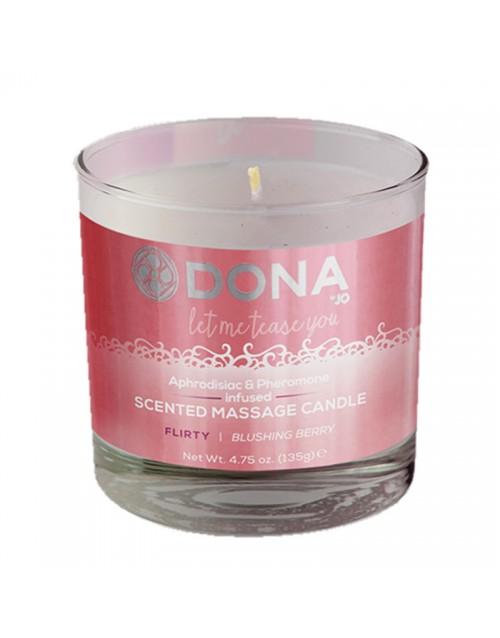 Масажна свещ с аромат на горски плодове DONA SCENTED MASSAGE CANDLE - FLIRTY