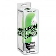 Масажьор Neon Luv Touch Jr. G-Spot Softees Зелен