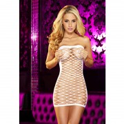 Рокля Hustler White Fencenet Micro Mini Dress