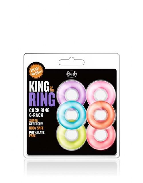 Пенис пръстен KING OF THE RING 6 броя