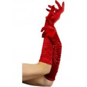 Дълги червени ръкавици